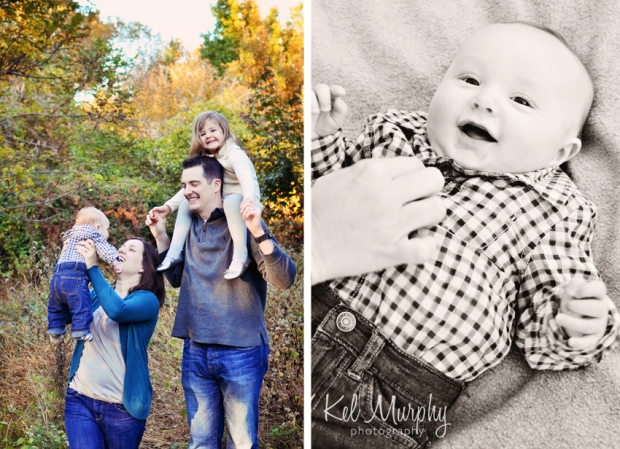 Fall mini session in burholme Philadelphia family of four