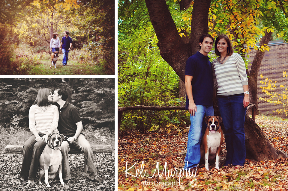 Kel Murphy Photography Fall Family And Pet Session With Boxer Dog Parents In Abington