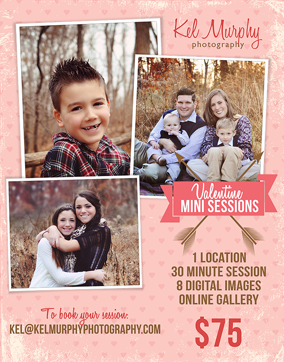 Kel Murphy Photography offers Valentine Mini Sessions in Philadelphia, PA