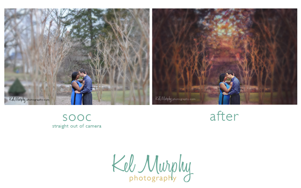 Kel Murphy Photography Winter Engagement Session photo contest entry for Framed I heart faces. Before and after.