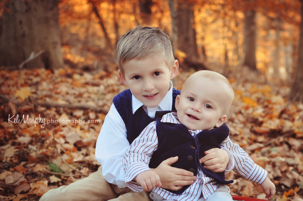 Kel Murphy Photography fall winter gorgeous family sunset outdoor session, two little boys with mom and dad