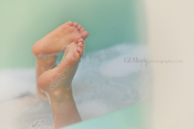 Kel Murphy Photography Day 39 of 365 son's feet in bathtub