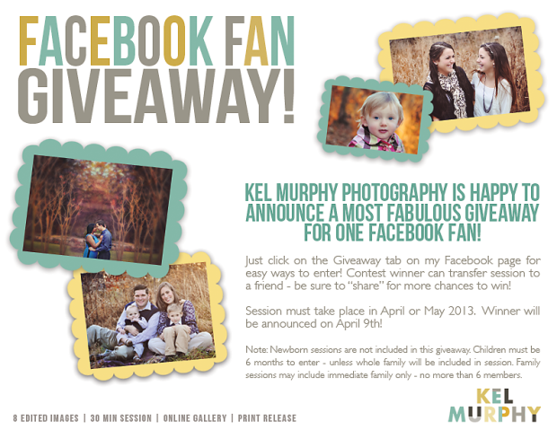 Kel Murphy Photography 2000 facebook fan photo session giveaway contest