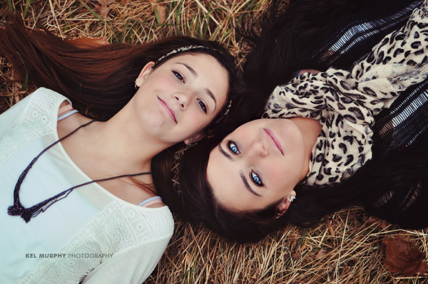 Kel Murphy Photography Teen Sister Winter Fall Session Poses Philadelphia