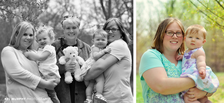 3 generations of women in a family and mother and daughter