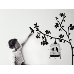 Kel-Murphy-Photography-boy-touching-blackbird-wall-decoration-Instagram-Project-365-Child-Children-Photographer-Philadelphia-Abington-Montgomery-County-Bucks-PA-2015-6