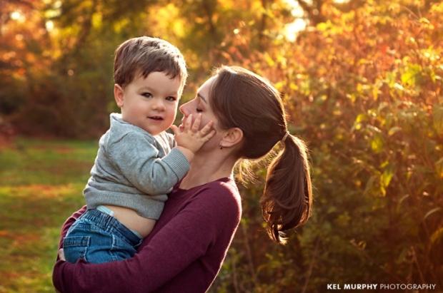 Kel-Murphy-Photography-Philadelphia-Child-Photographer-Montgomery-County-Bucks-County-Family-Families-Children-High-School-Senior-Portraits-mom-holding-little-boy-son-fall