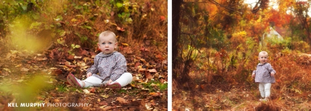 Kel-Murphy-Photography-Philadelphia-Child-Photographer-Montgomery-County-Bucks-County-Family-Huntingdon-Valley-Rydal-Families-Children-High-School-Senior-Portraits-one-year-old-girl-outside-fall-leaves