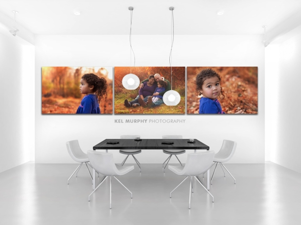 Custom wall art home decor modern dining room canvas metal photos on white wall by Kel Murphy Photography