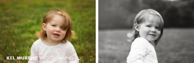 2 year old little girl in spring by Kel Murphy Photography