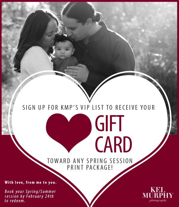 Valentine's Day Gift Card Photography Session Philadelphia Kel Murphy Photography