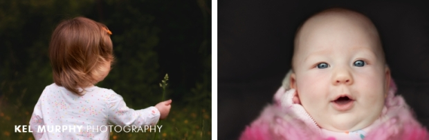 Baby sisters outside spring by Kel Murphy Photography in Abington PA